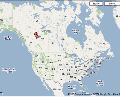 Map Of Fort St John Bc Canada A Canadian Geography Lesson | Girl With The Red Hair